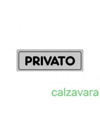 TARGHETTA ADESIVA PRIVATO...